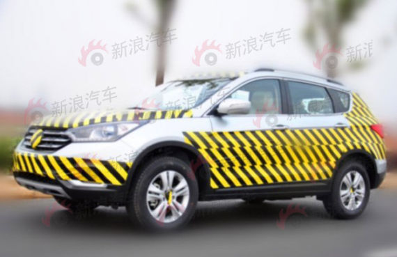 共享标致508动力 东风风神全新SUV谍照高清图片