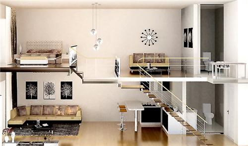 设计图分享 单身公寓地中海设计图  四十平米单身公寓装修设计图 宽
