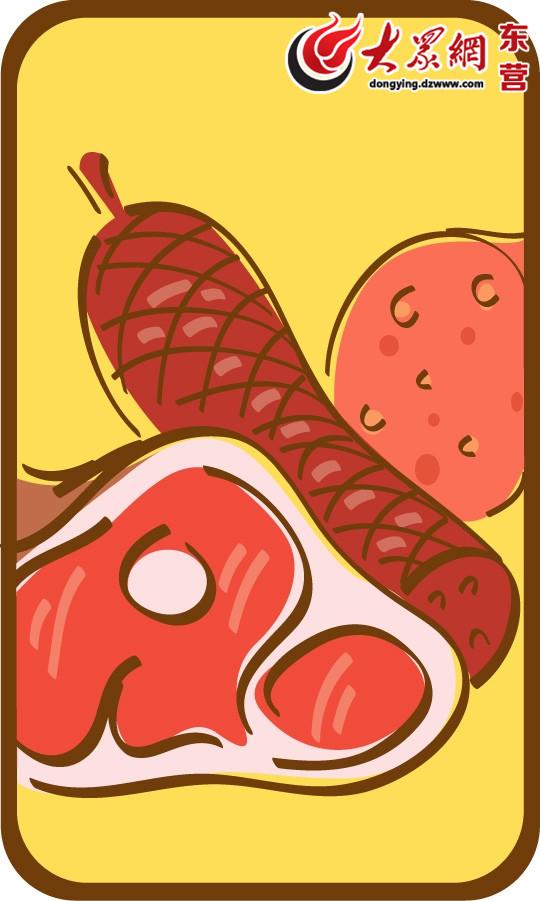 各种食物的卡通图片