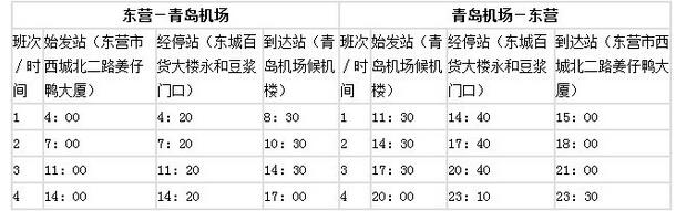 东营至北京机场,青岛机场,济南机场,济南高铁西客站大巴时间表