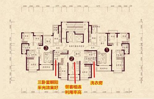 4#    项目户型介绍:恒大黄河生态城近期加推的4#楼主打小户型,两梯