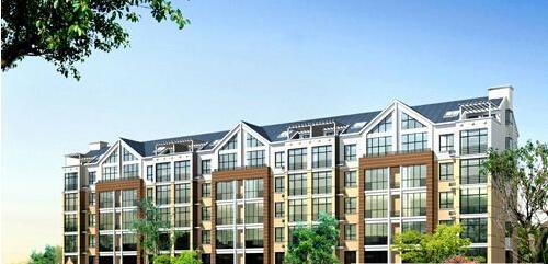 本项目建筑设计承袭中式住宅典雅之精髓,结合地块的地形特点,因地