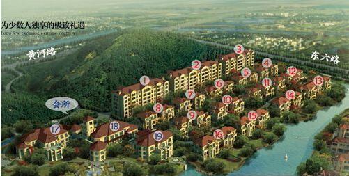 山中欧式别墅鸟瞰