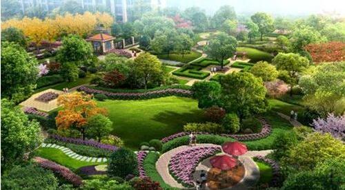 小区绿地景观采用欧式