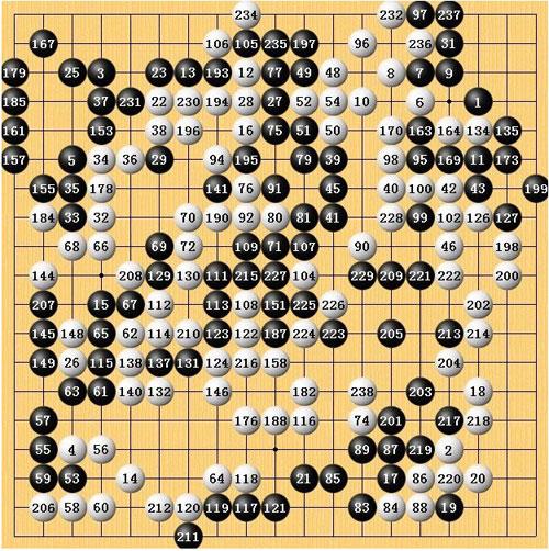 第二十六届中国围棋名人战决赛五番棋的第三