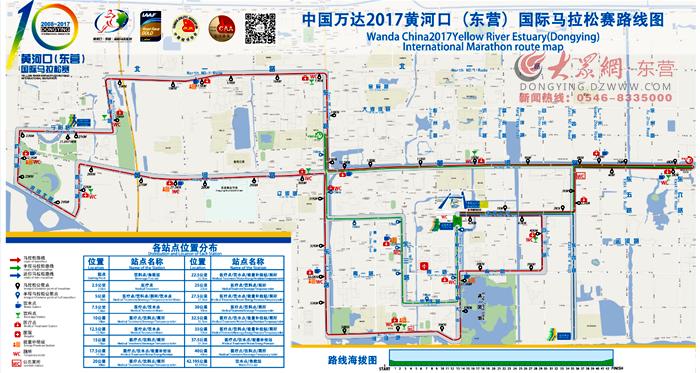2017东营国际马拉松赛路线图新鲜出炉图片